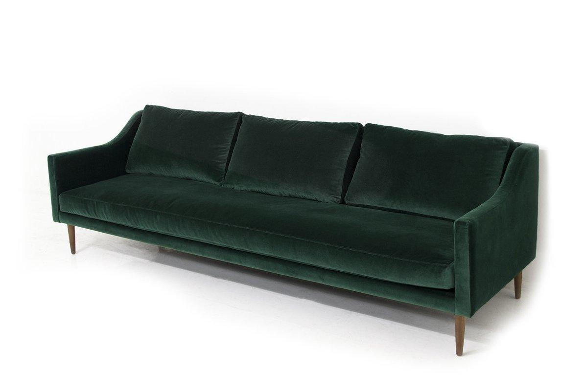 Modern Velvet Sofas + Couches | Allmodern Intended For Black Velvet Sofas (Image 11 of 20)