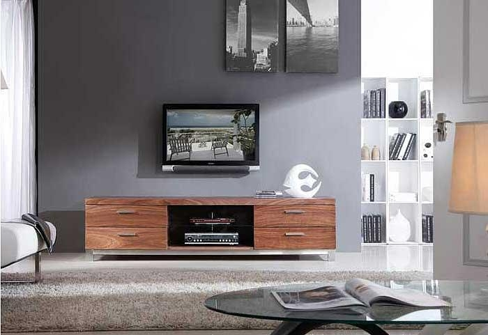 Modern Walnut Tv Stand Bm3 | Tv Stands In Best And Newest Modern Walnut Tv Stands (View 5 of 20)