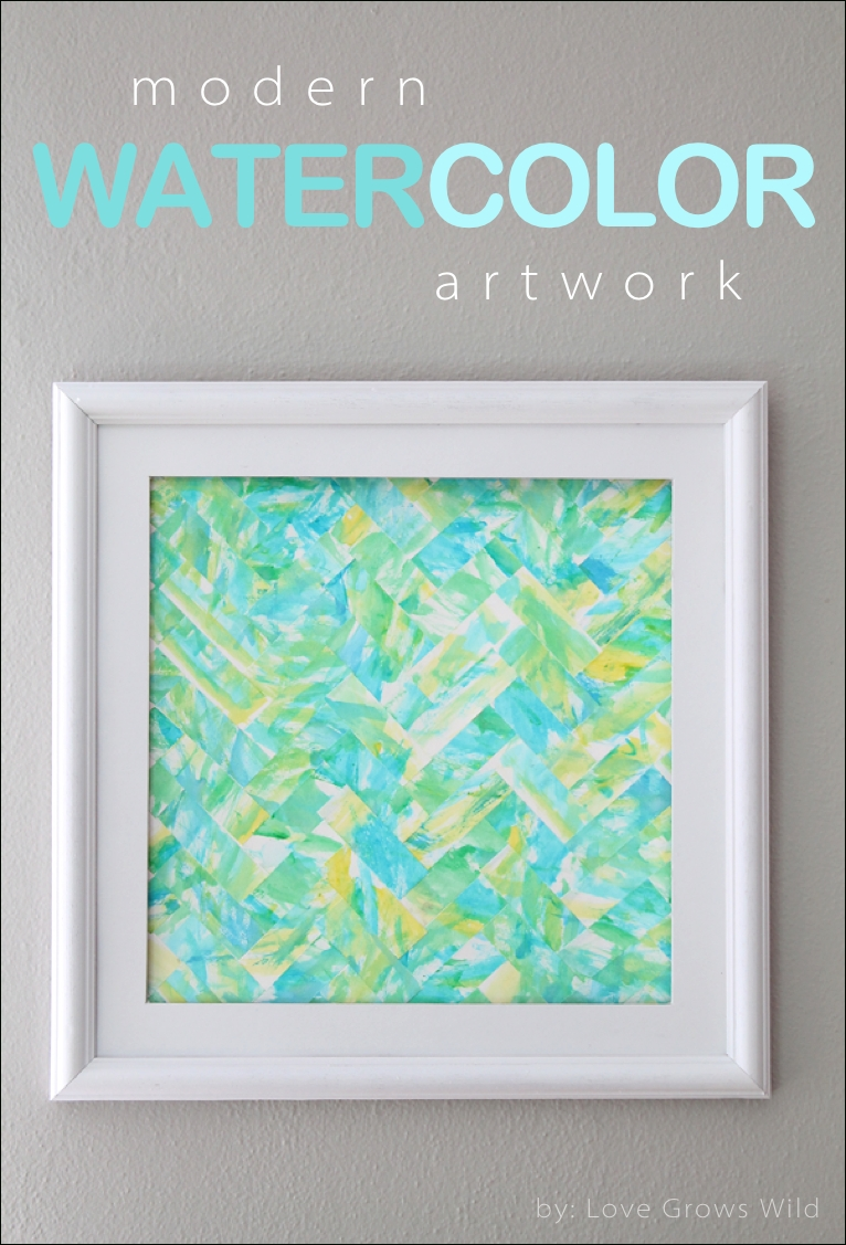 Modern Watercolor Kids Art Guest Post At 52 Mantels – Love Grows Wild Within Diy Watercolor Wall Art (Image 16 of 20)