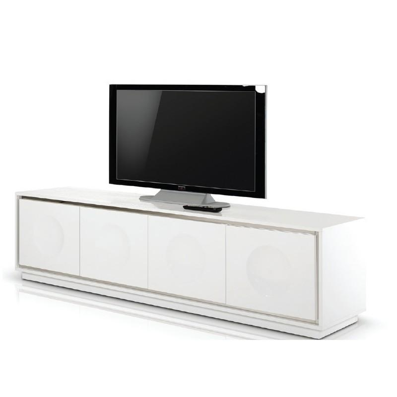 Modern White Crocodile Lacquer Tv Stand – Ugalleryfurniture With Newest Modern White Lacquer Tv Stands (View 11 of 20)