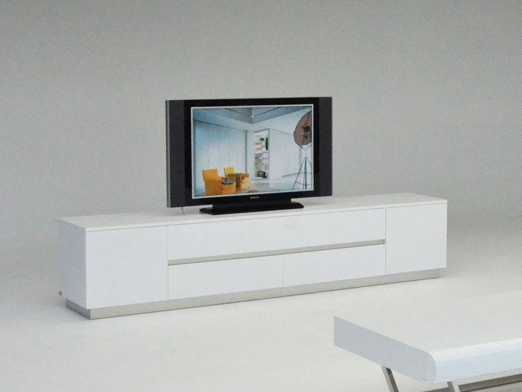 Modern White Tv Console #525 Regarding Latest Contemporary White Tv Stands (Image 13 of 20)