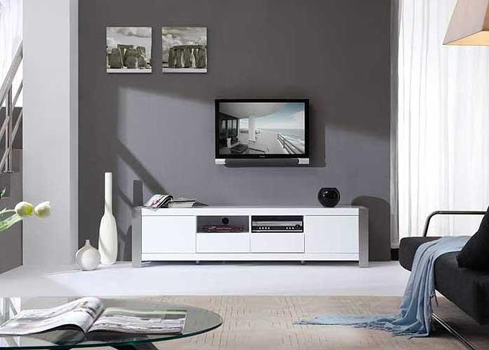 Modern White Tv Stand Bm01 | Tv Stands Pertaining To Best And Newest White Modern Tv Stands (Image 13 of 20)