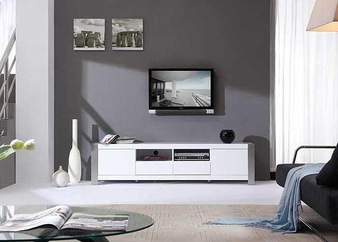 Modern White Tv Stand Bm01 | Tv Stands Regarding 2017 Modern White Tv Stands (Image 13 of 20)