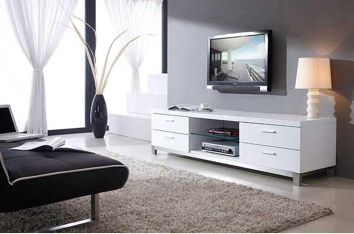 Modern White Tv Stand Bm3 | Tv Stands Intended For Most Recent Modern White Tv Stands (Image 14 of 20)
