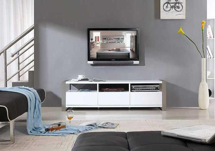 Modern White Tv Stand Bm4 | Tv Stands In Best And Newest White Contemporary Tv Stands (Image 15 of 20)