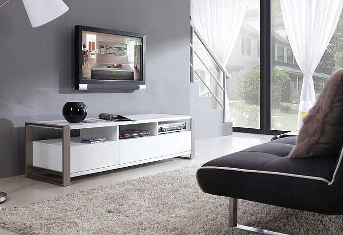 Modern White Tv Stand Bm4 | Tv Stands Pertaining To Most Recently Released Modern White Tv Stands (View 4 of 20)