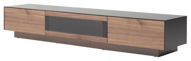 Modrest Darius Modern Walnut Tv Stand – Contemporary Throughout Latest Modern Walnut Tv Stands (Image 13 of 20)