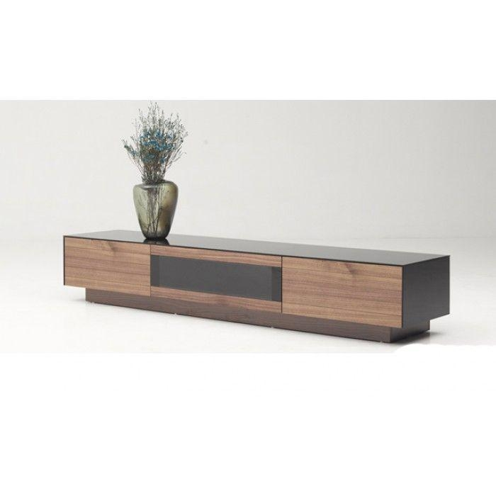 Modrest Darius Modern Walnut Tv Stand | Tv Stands, Modern And Pertaining To Latest Walnut Tv Cabinet (View 5 of 20)