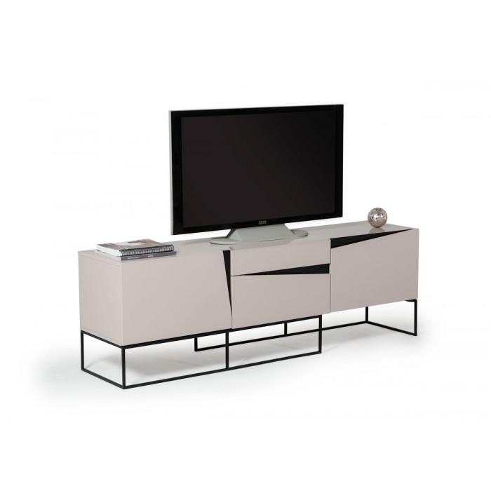 Modrest Hope Modern Grey Gloss Tv Stand For 2017 Grey Tv Stands (View 9 of 20)