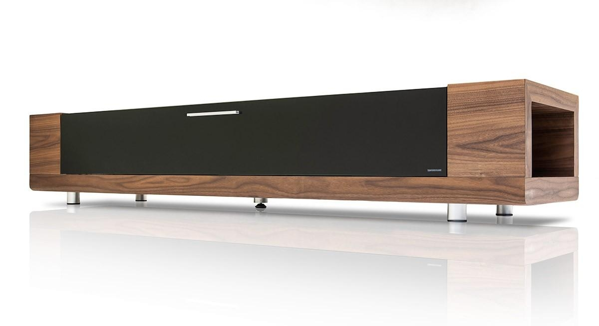 Modrest Marcus Modern Walnut Veneer Tv Stand Entertainment Inside Most Up To Date