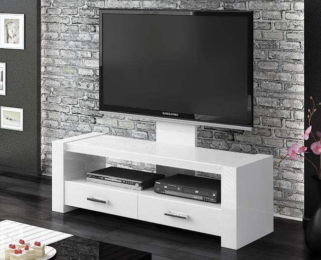 Monaco White Gloss Tv Stands | Modern Tv Stands Pertaining To Newest Modern White Gloss Tv Stands (Image 13 of 20)