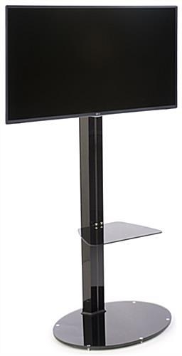 Monitor Stand With Oval Glass Base | Adjustable Tv Mount Pertaining To Newest Oval Glass Tv Stands (Image 12 of 20)