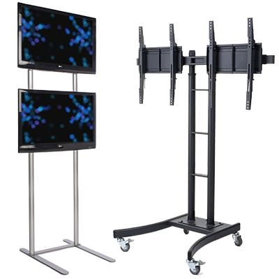Monitor Stands | Universal Flat Screen Tv Mounts Intended For Most Popular Dual Tv Stands (Image 11 of 20)