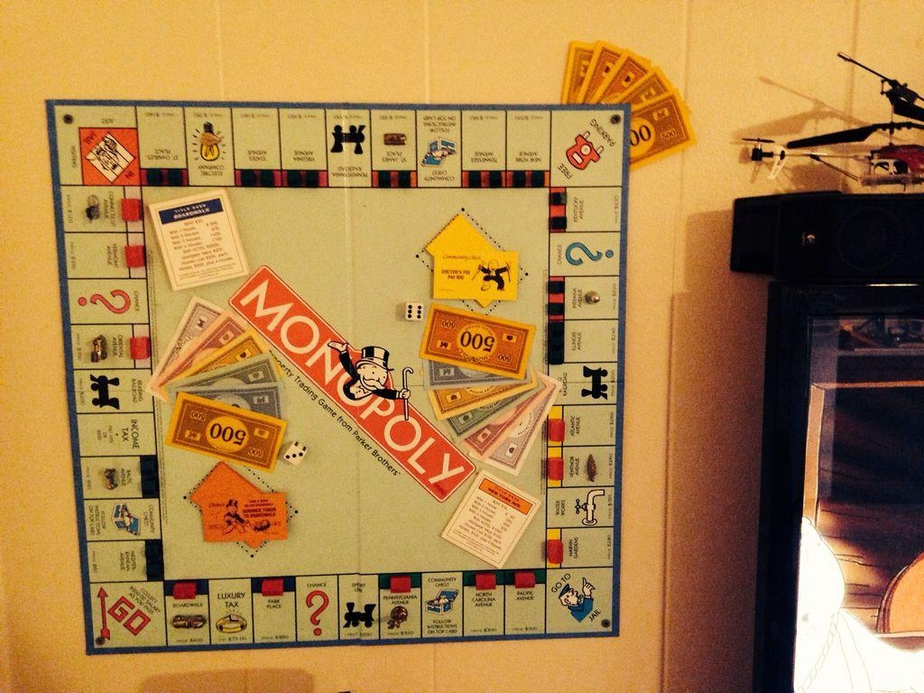 Monopoly Wall Art Throughout Board Game Wall Art (View 10 of 20)