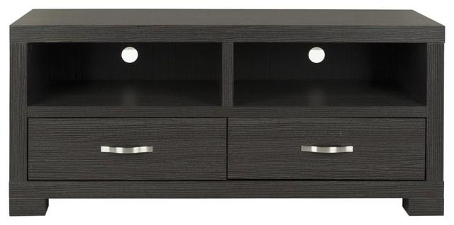 Monroe 2 Drawer Tv Cabinet – Entertainment Centers And Tv Stands Regarding Most Popular Black Tv Cabinets With Drawers (Image 16 of 20)