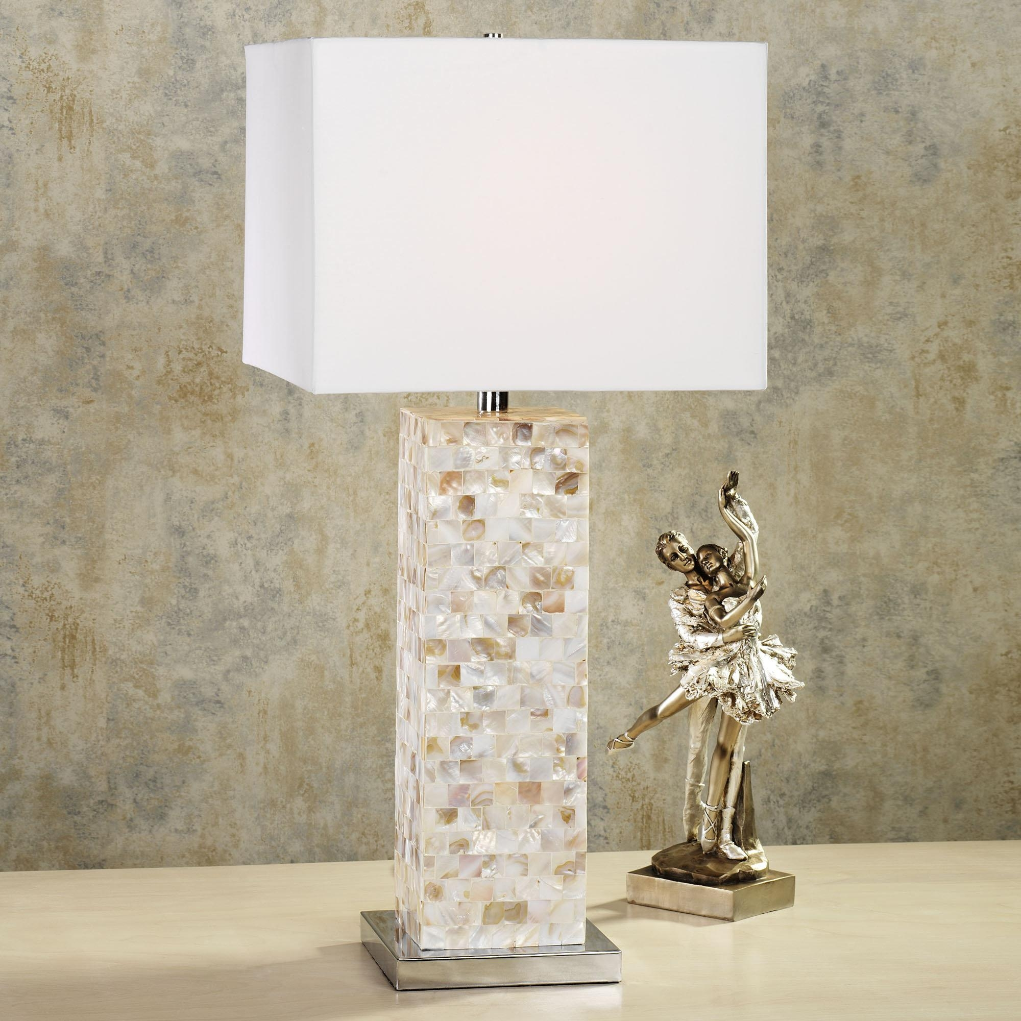 Mother Of Pearl Table Lamps – Giving You A Contemporary Interior With Glamorous Mother Of Pearl Wall Art (View 3 of 20)