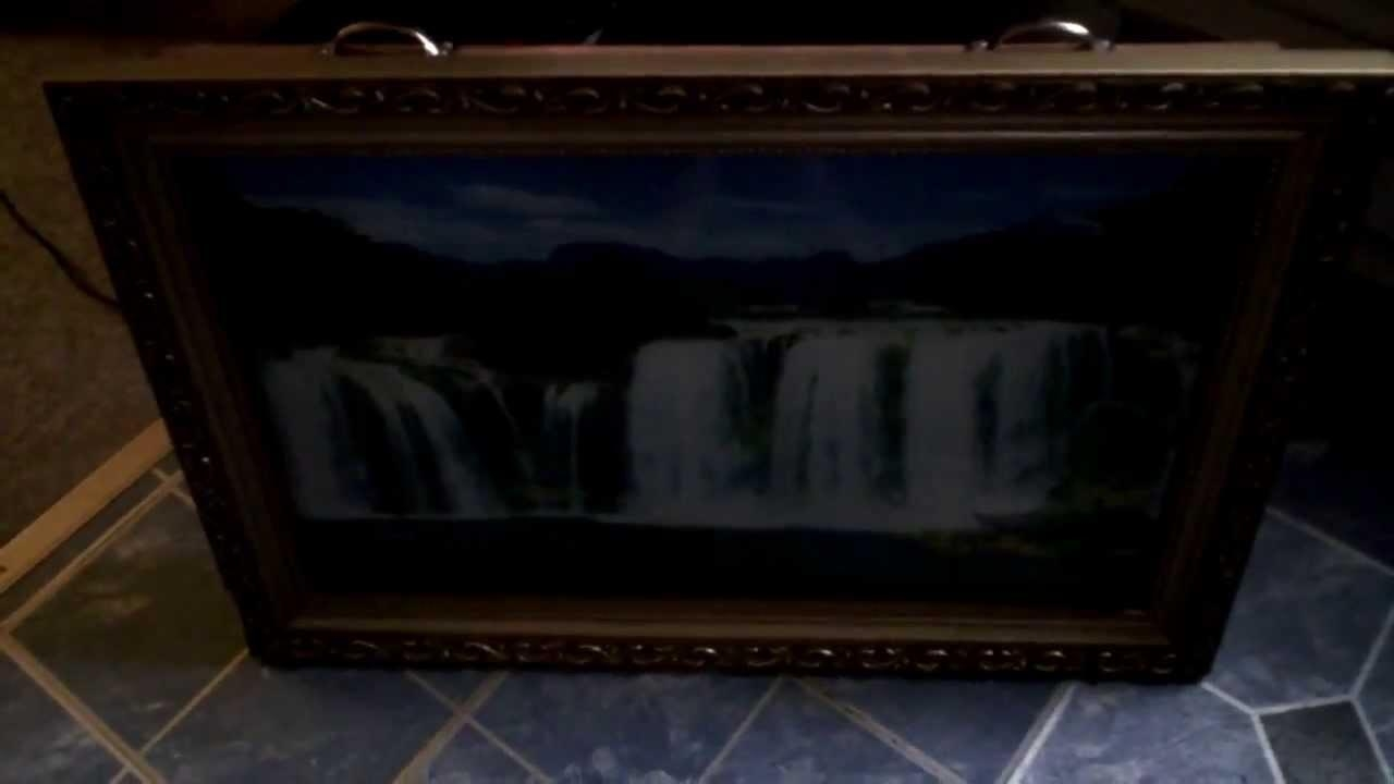 Motion Moving Waterfall Wall Art – Youtube With Regard To Moving Waterfall Wall Art (Image 8 of 20)