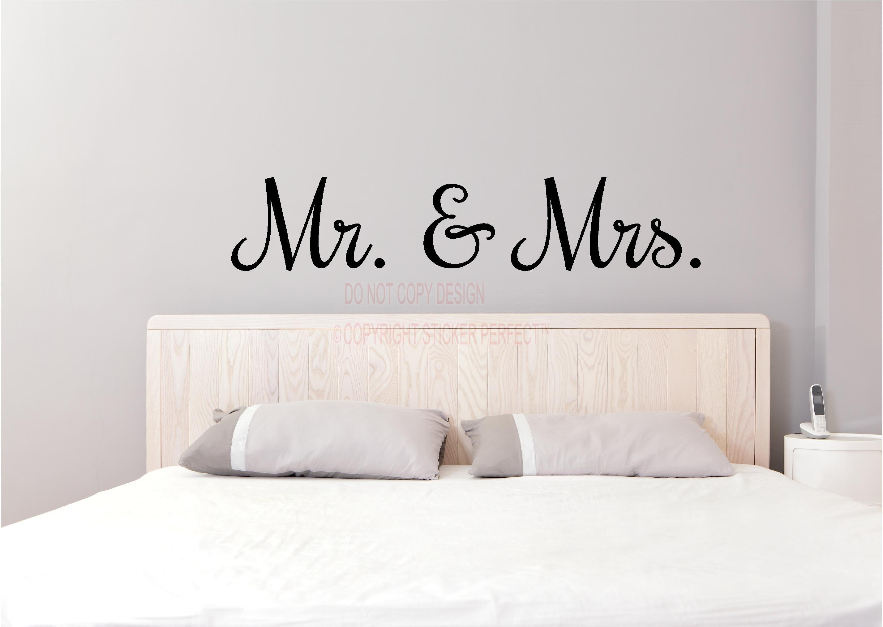 Mr And Mrs Bedroom Headboard Uplifting Home Decor Inspirational With Mr And Mrs Wall Art (Image 8 of 20)