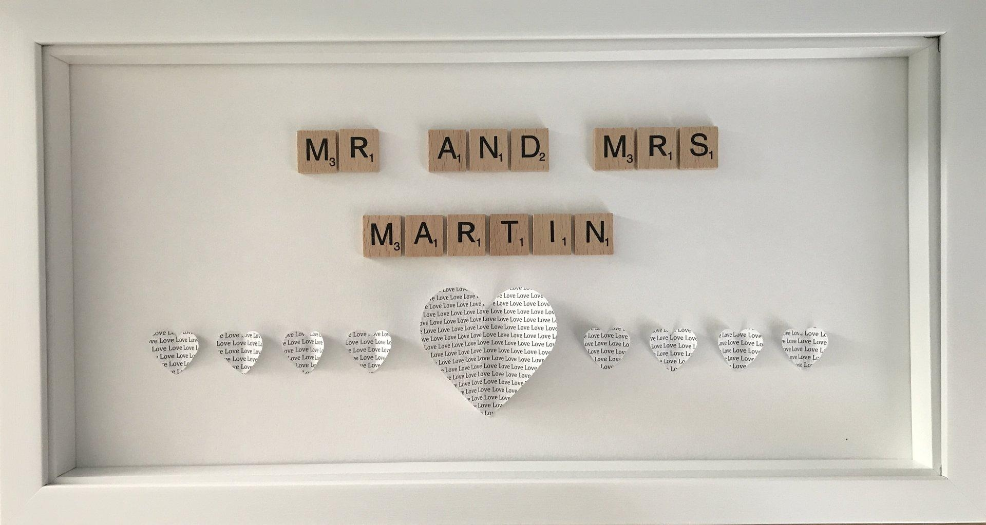 Mr And Mrs Scrabble Letter Wall Art – Nellie And Ferret Within Mr And Mrs Wall Art (View 16 of 20)