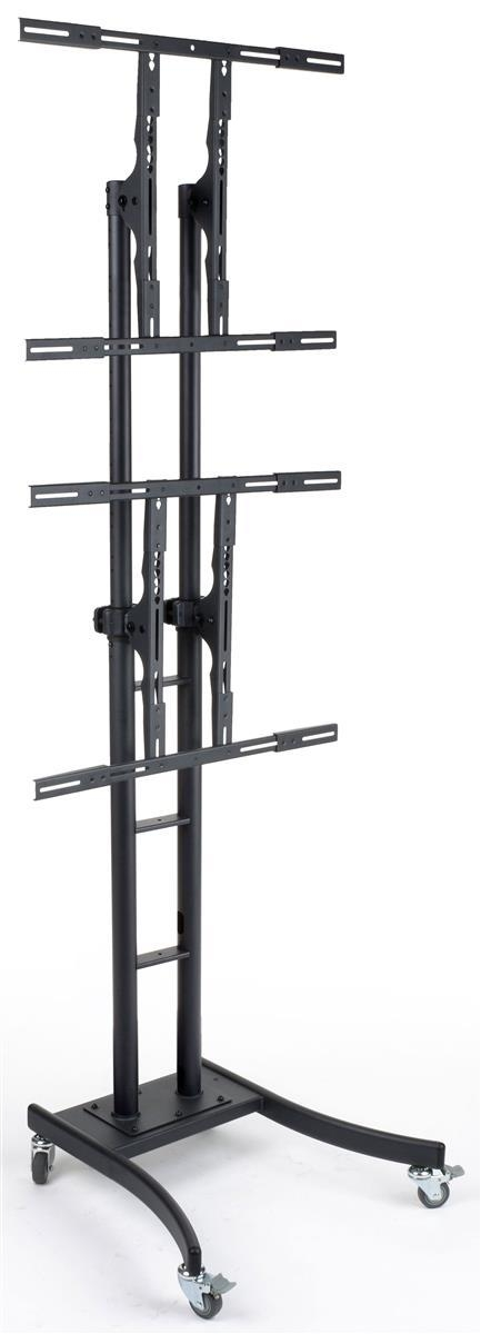 Multi Monitor Stands | Universal Mounts For Two Or More Tvs In 2017 Dual Tv Stands (Image 12 of 20)