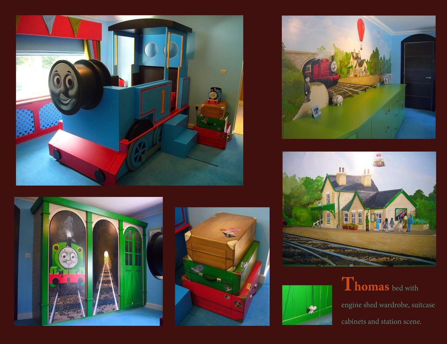 Mural Portfolio With Thomas The Tank Wall Art (Image 9 of 20)