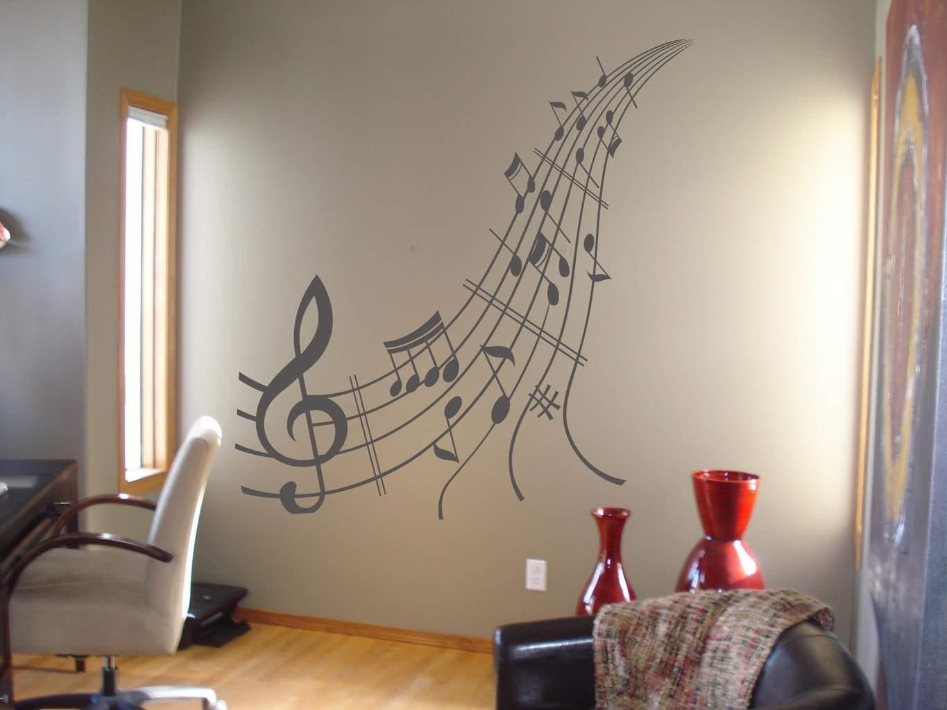 Music Notes Wall Art Decal | Music Wall Decal Sticker With Music Notes Wall Art Decals (Image 8 of 20)