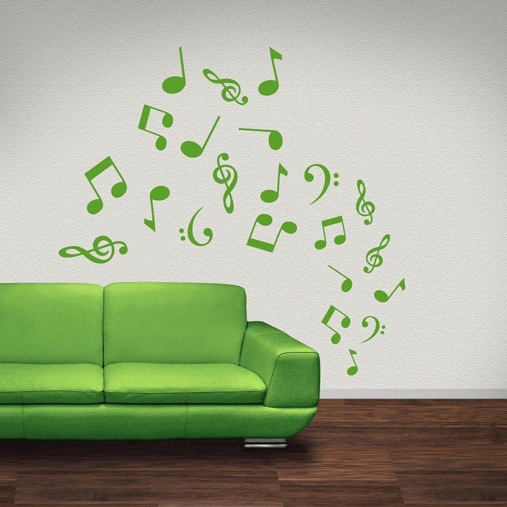 Musical Note Wall Stickers | Iconwallstickers.co (View 4 of 20)