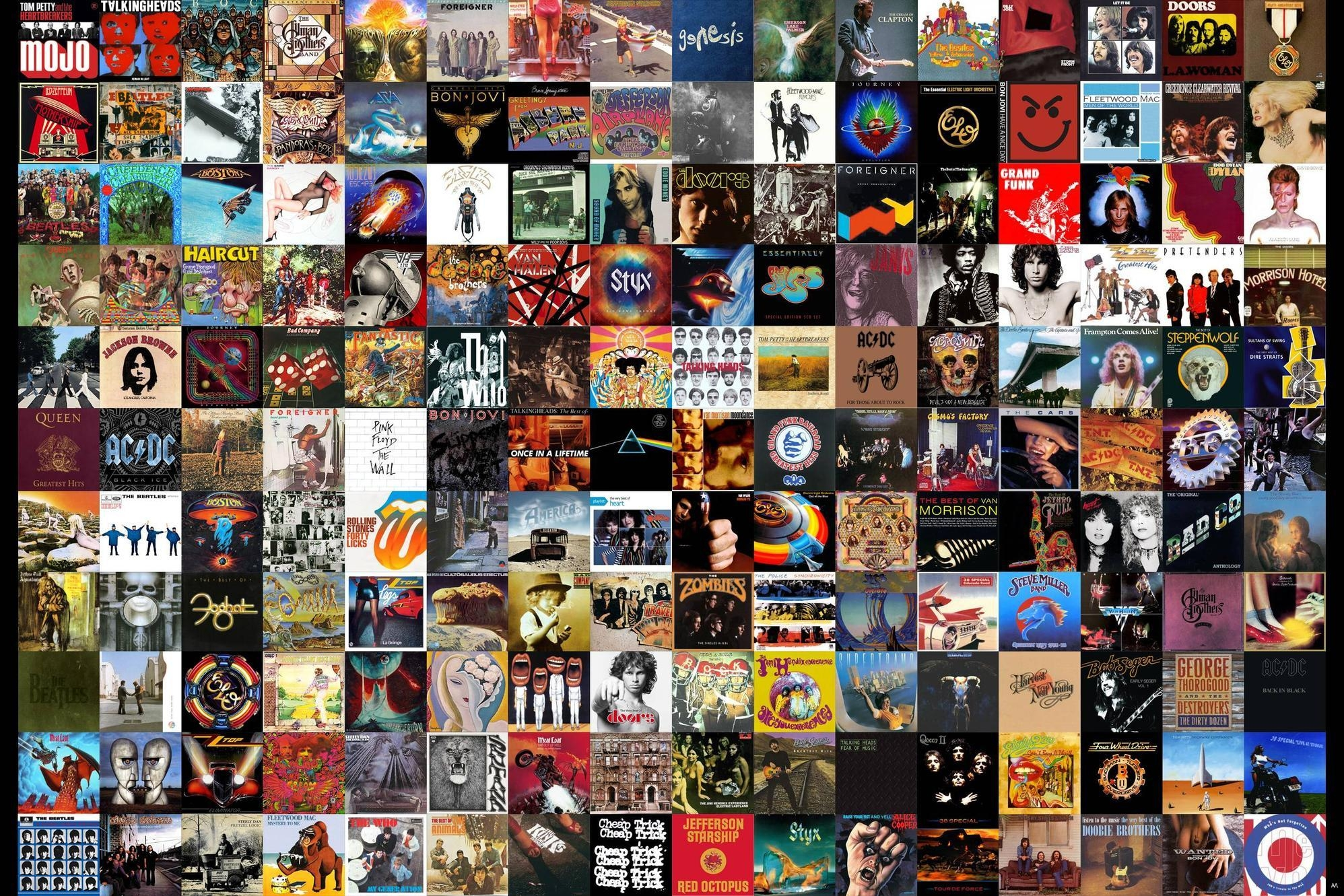 My Tribute To Classic Rock: A Wall Of 180 Album Covers (View 17 of 20)