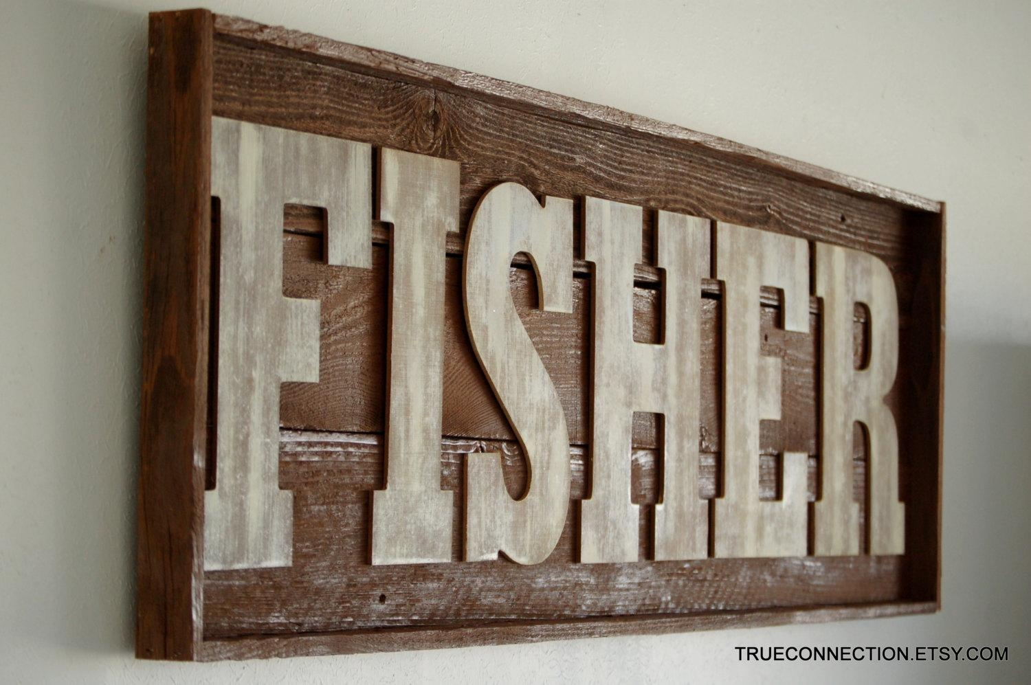 Featured Photo of Custom Last Name Wall Art