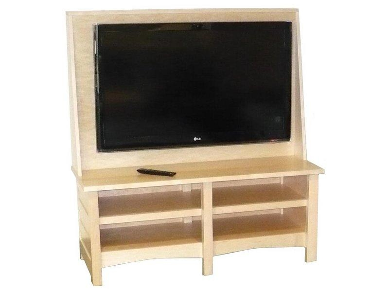 Natural Maple Clarks Mission Tv Stand | Amish Clarks Tv Stand Inside 2017 Maple Wood Tv Stands (View 7 of 20)