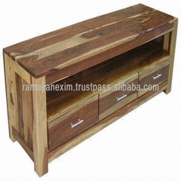 Natural Sheesham Wood Furniture,living Room Furniture,tv Stand In Newest Sheesham Tv Stands (Image 15 of 20)