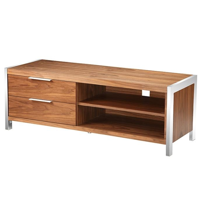 Neo Tv Stand Walnut Smallmoe's Home Pertaining To 2017 Walnut Tv Stand (Image 13 of 20)