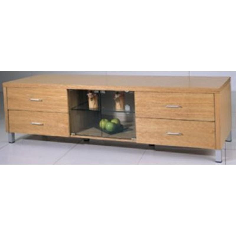 Nero Contemporary Oak Tv Stand | Richport Designs Intended For Current Contemporary Oak Tv Stands (Image 12 of 20)