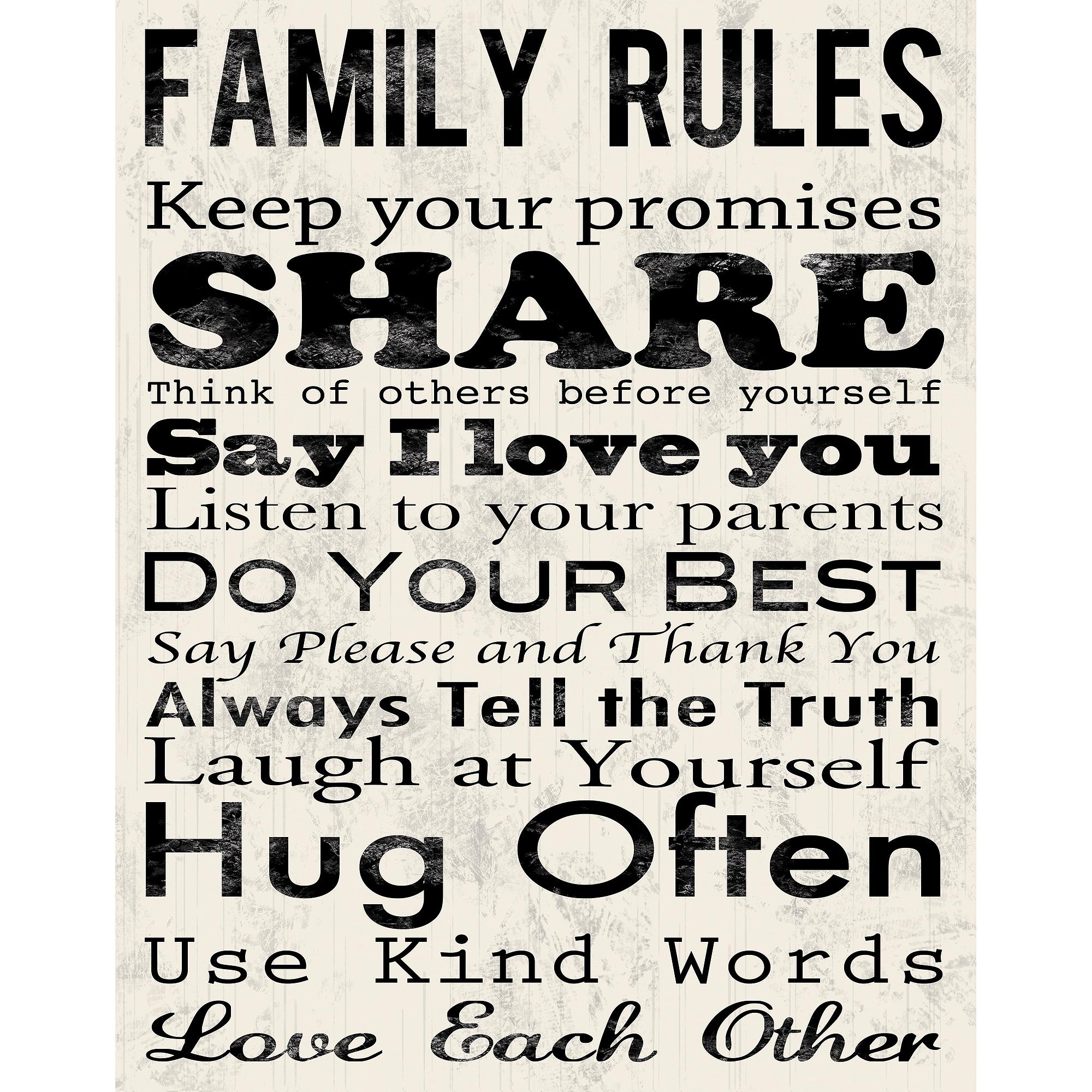 New 20+ Family Rules Wall Art Design Decoration Of Wall Art Family For Family Rules Canvas Wall Art (View 9 of 20)