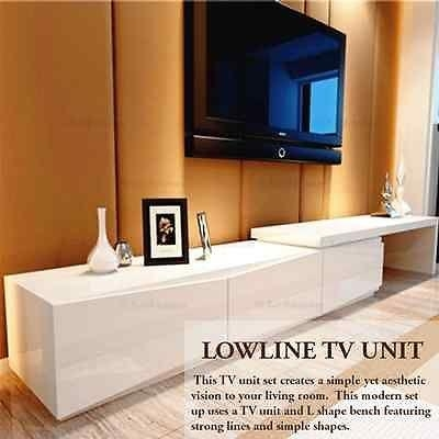 New High Gloss White Tv Stand Entertainment Unit Lowline Intended For 2018 Cheap Lowline Tv Units (Image 17 of 20)