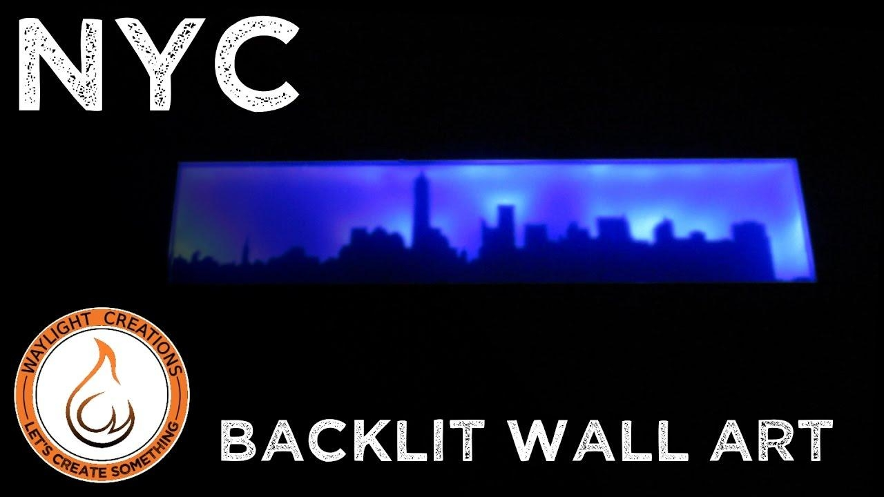 New York City Skyline – Backlit Led Wall Art Scroll Saw Project Inside Backlit Wall Art (Image 10 of 20)