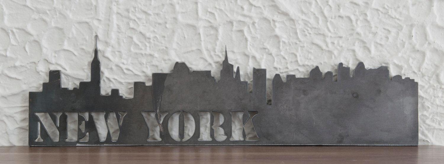 New York City Skyline Metal Art Work Skyscrapers Modern With Metal Wall Art New York City Skyline (Image 11 of 20)