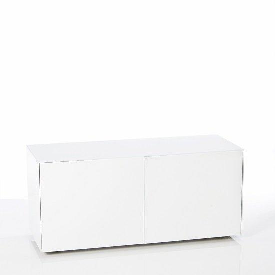 Nexus Small Tv Stand In White High Gloss With Wireless Inside Best And Newest Small White Tv Stands (Image 14 of 20)