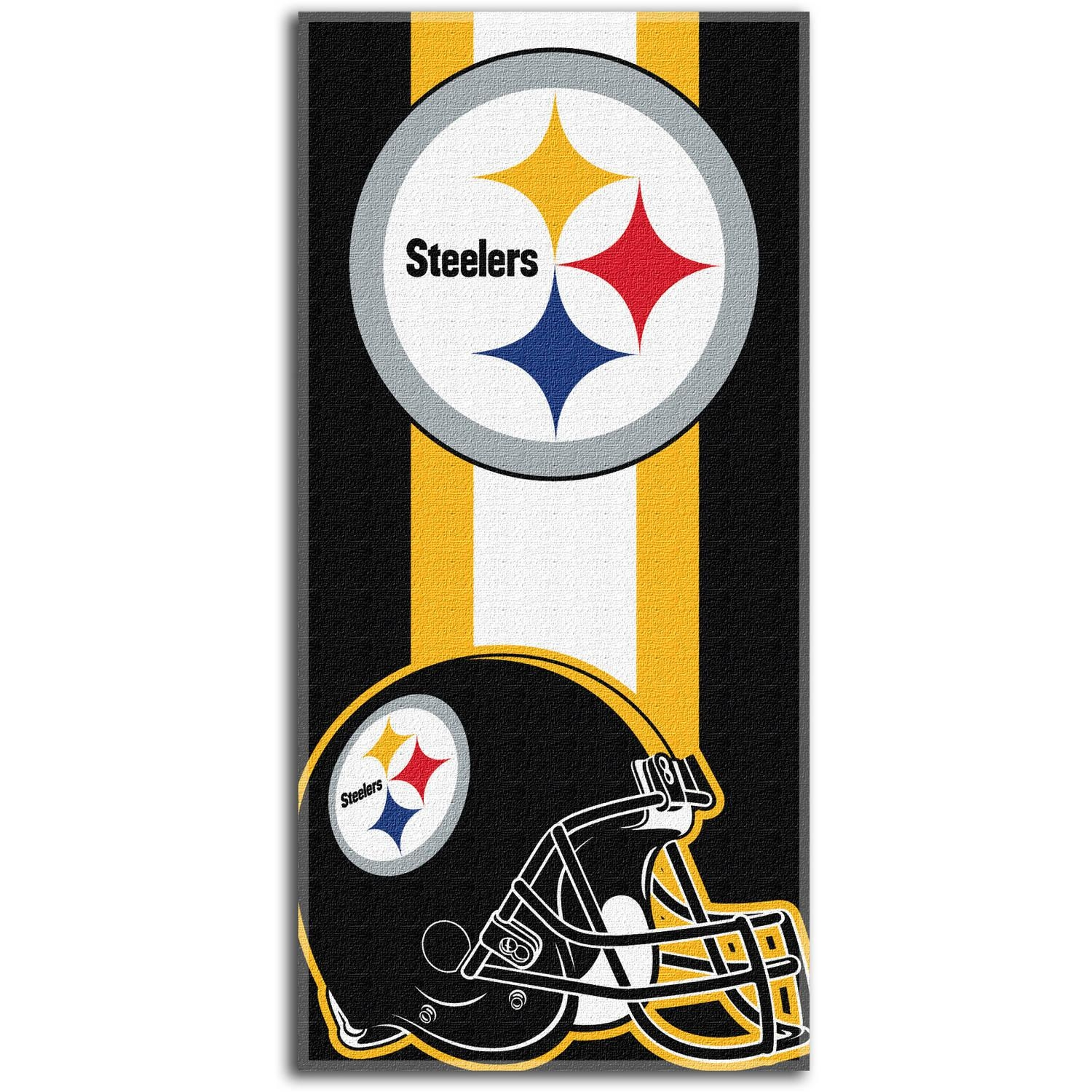 "Nfl Pittsburgh Steelers ""zone Read"" 30"" X 60"" Beach Towel Throughout Steelers Wall Art (Image 9 of 20)"