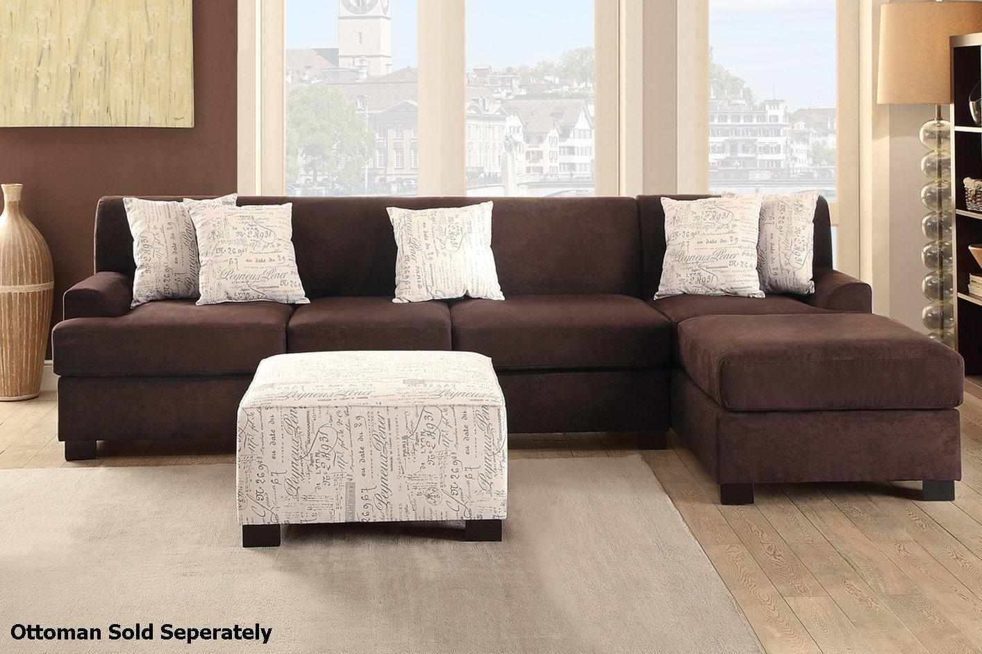Nia Brown Fabric Sectional Sofa – Steal A Sofa Furniture Outlet For Cloth Sectional Sofas (View 18 of 21)