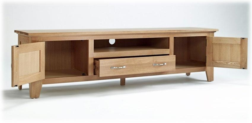 Nice Large Tv Cabinets Large Oak Tv Unit Sherwood Oak Range With Recent Oak Tv Cabinets (View 4 of 20)