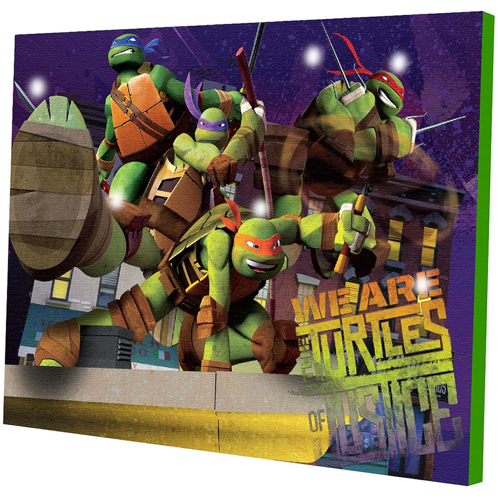 Nickelodeon Teenage Mutant Ninja Turtles Light Up Canvas Wall Art Inside Tmnt Wall Art (View 12 of 20)