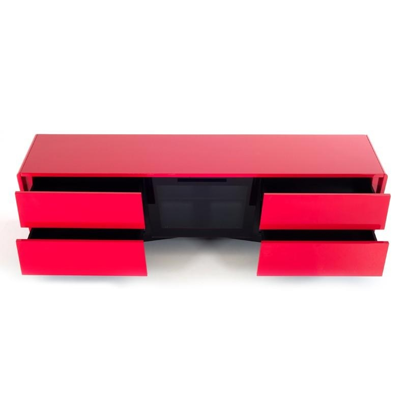 Nova Domus Max Modern Red Tv Stand Pertaining To Most Current Red Modern Tv Stands (Image 14 of 20)