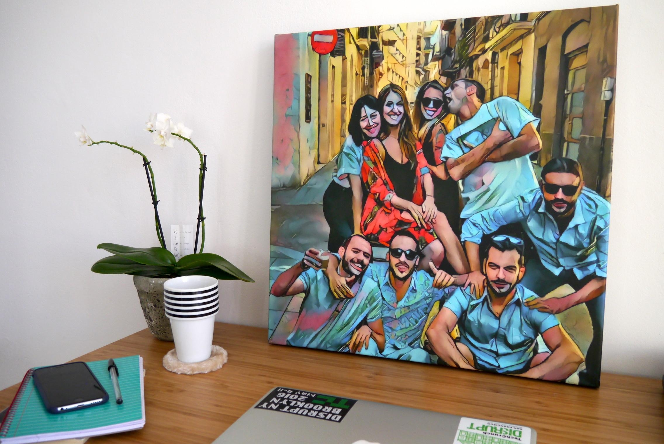 Now Canvaspop Wants To Turn Your Prisma Photos Into Wall Art Intended For Turn Pictures Into Wall Art (Image 11 of 20)