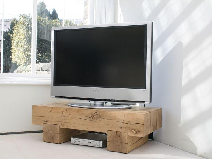 Oak Beam Tv Stand #indigocollections | New Place | Pinterest | Tv Inside Most Current Chunky Tv Cabinets (View 14 of 20)