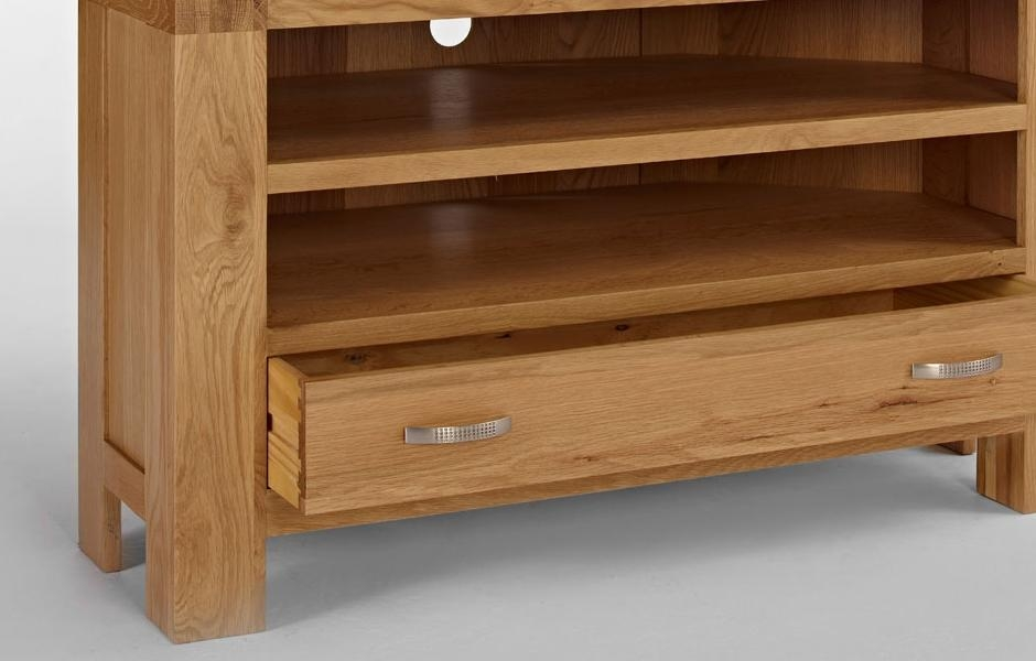 Oak Corner Tv Unit – Light Santana Oak In Best And Newest Santana Oak Tv Furniture (View 4 of 20)