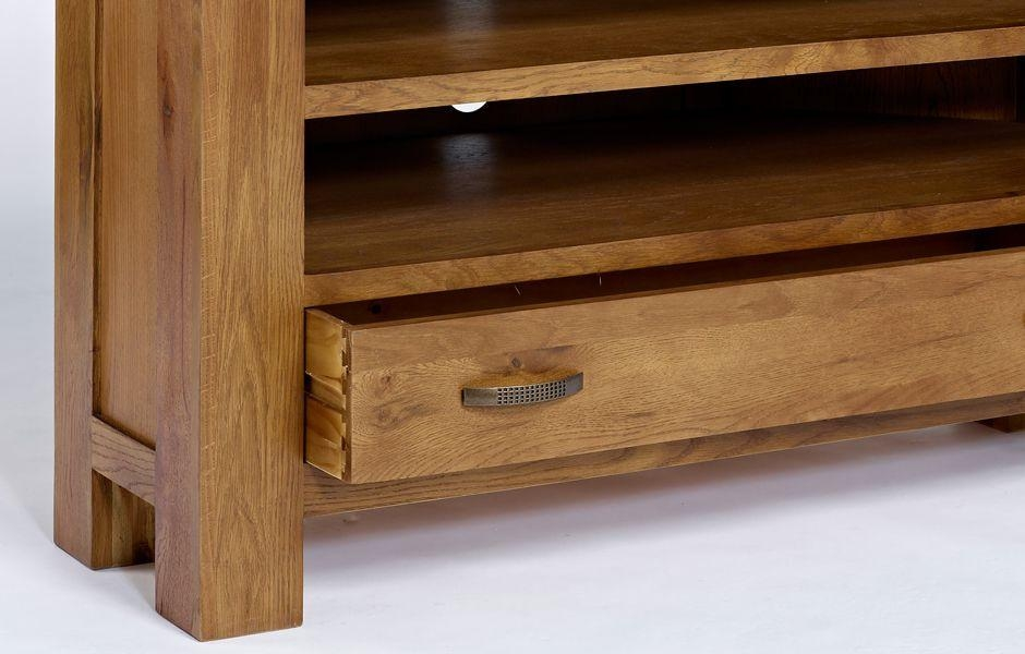 Oak Corner Tv Unit – Rustic Santana Oak For Latest Santana Oak Tv Furniture (View 13 of 20)