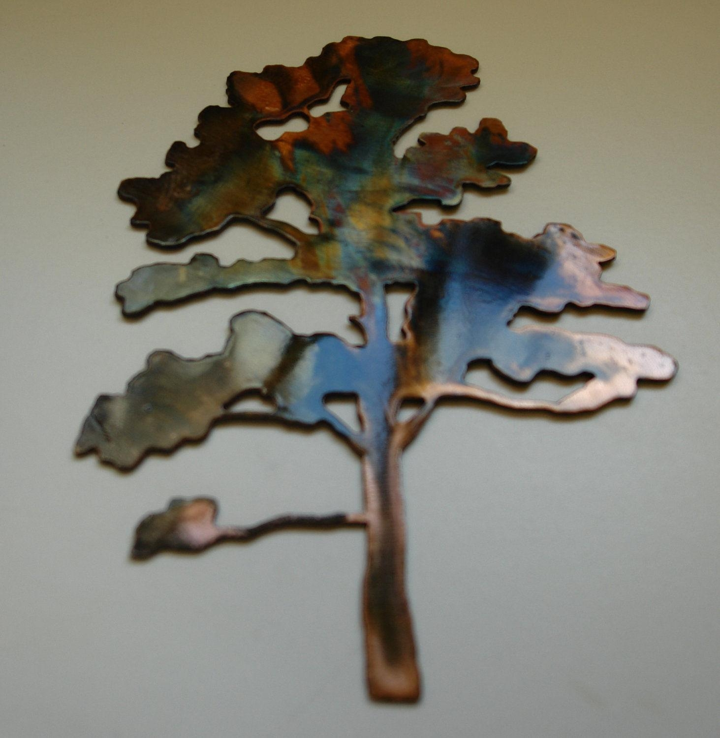 Tall Metal Wall Art Wall Art Ideas Copper Oak Tree Wall Art Explore 5 Of 20 Photos