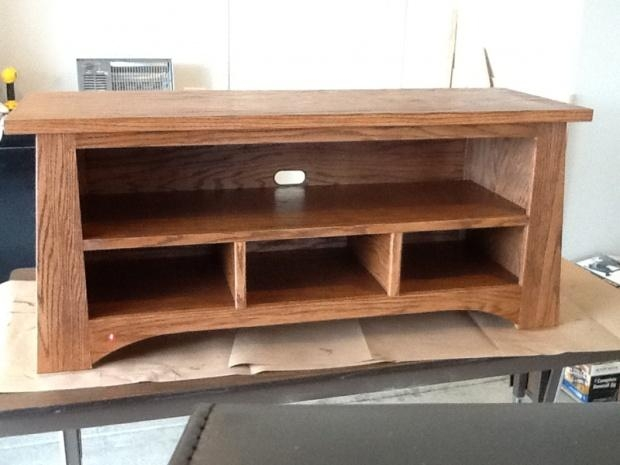 Oak Tv Stand From The Family Handyman – Woodworking Talk Intended For Current Hardwood Tv Stands (View 14 of 20)