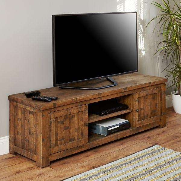 Oak Tv Stand | Heyford Rough Sawn From Big Blu Regarding Most Up To Date Rustic Oak Tv Stands (Image 8 of 20)